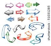 colorful arrow sketch doodle set | Shutterstock .eps vector #51031285