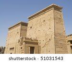 """The ancient temple """"Philae"""" in Egypt - stock photo"""