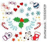 christmas decorations set.... | Shutterstock .eps vector #510320929
