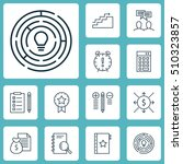 set of project management icons ... | Shutterstock .eps vector #510323857