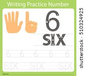 worksheet writing practice... | Shutterstock .eps vector #510324925