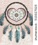 ethnic illustration  tribal... | Shutterstock .eps vector #510327025