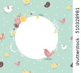 cute vector background with... | Shutterstock .eps vector #510328981