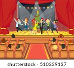 the performance of people at... | Shutterstock .eps vector #510329137