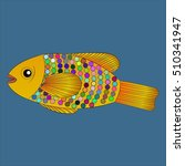 the golden fish | Shutterstock .eps vector #510341947