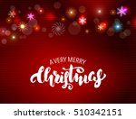 christmas greeting postcard  | Shutterstock . vector #510342151