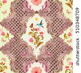 vintage seamless texture with... | Shutterstock . vector #510348709