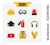 safety at work vector icons... | Shutterstock .eps vector #510351961