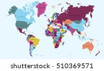 world map countries. world map... | Shutterstock .eps vector #510369571
