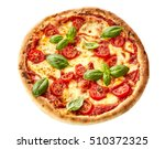 tasty homemade margherita... | Shutterstock . vector #510372325