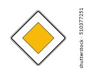 priority road sign  vector | Shutterstock .eps vector #510377251