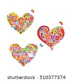 Collection Of Hippie Heart...