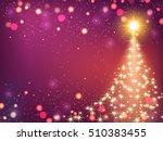 shining christmas background... | Shutterstock .eps vector #510383455