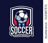soccer logo  american logo... | Shutterstock .eps vector #510387571