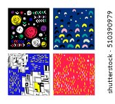 set of abstract color patterns. ... | Shutterstock .eps vector #510390979