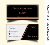 a simple business card  | Shutterstock .eps vector #510393907