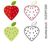 set strawberries  strawberry... | Shutterstock .eps vector #510397285