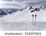 Ski Poles With Ski Gloves ...