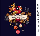 illustration for happy new year ...   Shutterstock . vector #510398329