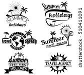 vintage summer typography... | Shutterstock . vector #510411091