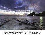twilight sky over pura batu... | Shutterstock . vector #510413359