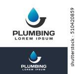 plumbing pipes. plumbing logo.... | Shutterstock .eps vector #510420859