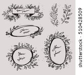 wedding ribbon and text boxes.... | Shutterstock .eps vector #510428509