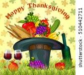 harvest festival happy... | Shutterstock .eps vector #510442711