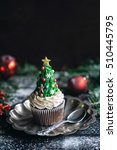 homemade christmas tree cup... | Shutterstock . vector #510445795