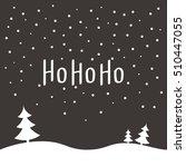 ho ho ho merry christmas vector ... | Shutterstock .eps vector #510447055