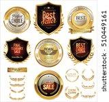 vector medieval golden shields... | Shutterstock .eps vector #510449161
