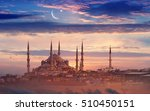 beautiful sunset in istanbul ... | Shutterstock . vector #510450151