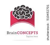 nice brain logo with nice brain ... | Shutterstock .eps vector #510452701