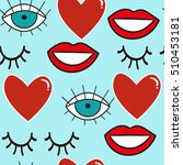 seamless pattern with love... | Shutterstock .eps vector #510453181