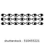 eye set in a minimalist style | Shutterstock .eps vector #510455221