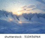 beautiful ice pattern on winter ... | Shutterstock . vector #510456964