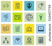 set of 16 universal editable... | Shutterstock .eps vector #510457759