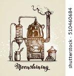 moonshining. vintage hooch... | Shutterstock .eps vector #510460684