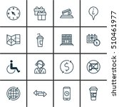 set of airport icons on info... | Shutterstock .eps vector #510461977