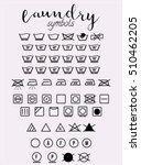 laundry symbols and icons set... | Shutterstock .eps vector #510462205