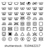 laundry symbols and icons set... | Shutterstock .eps vector #510462217