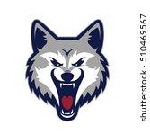 wolf head mascot | Shutterstock .eps vector #510469567