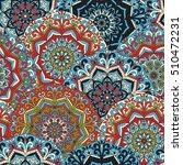 vector seamless mandala pattern.... | Shutterstock .eps vector #510472231