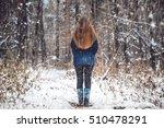 outdoor winter forest landscape.... | Shutterstock . vector #510478291