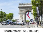 paris  france  on july 10  2016.... | Shutterstock . vector #510483634
