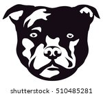 graphic portrait of the dog... | Shutterstock .eps vector #510485281