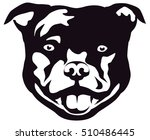 graphic portrait of the dog... | Shutterstock .eps vector #510486445