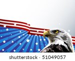 Bald Eagle In Front Of An...