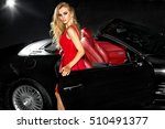 beautiful girl in the car....   Shutterstock . vector #510491377