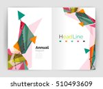 geometric annual report... | Shutterstock .eps vector #510493609